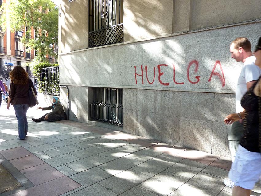 Rúa da Princesa, Madride, 29/09/2010 (Folga Xeral).