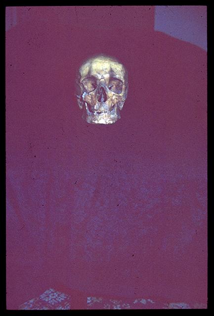 """""""Los miedos"""": Cubierta, tapa anterior: diapositiva original sobreexpuesta."""
